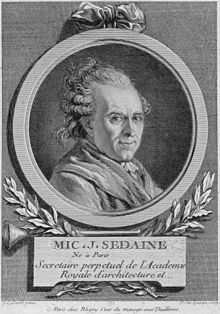 Michel-Jean Sedaine, engraving by Pierre-Charles Lévesque after the portrait by David. (Source: Wikimedia)