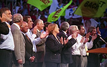 Michelle Bachelet durante campa%C3%B1a presidencial
