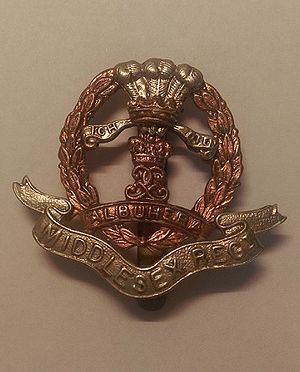 Middlesex Regiment - Cap Badge of the Middlesex Regiment (Duke of Cambridge's Own)