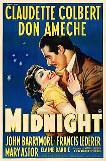 <i>Midnight</i> (1939 film) 1939 film by Mitchell Leisen
