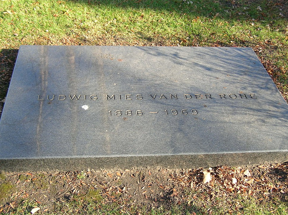 Mies van der Rohe headstone