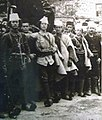 Mihal Bellkameni and other Albanian Revolutionaries enter Korcha in 1912.jpg