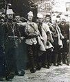 Mihal Bellkameni and other Albanian Revolutionaries enter Korcha in 1912.jpg