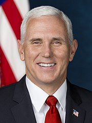 Mike Pence official Vice Presidential portrait (cropped)