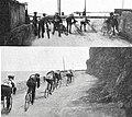 Milan-San Remo 1914, passage à niveau à Livello, puis groupe de tête avant Valtri.jpg