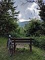 Miles Kington memorial bench, Conkwell - 2017-09-26 - Richard Lucking - 02.jpg
