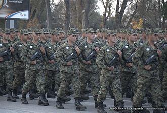4th Land Force Brigade - Belgrade Military Parade.