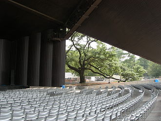 Miller Outdoor Theatre - Seating under the pavilion