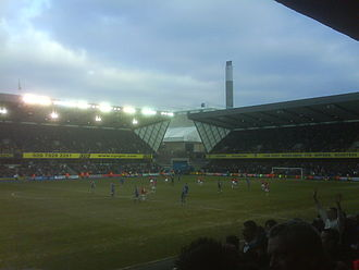 The Den - View from the west lower stand during a 4–0 win over Charlton Athletic during the 2009–10 season