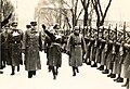 Ministerpresident Vidkun Quisling, Josef Terboven og norske polititropper (Æreskompanier) i forbindelse med Statsakten 1.2.1942. (8618020257).jpg