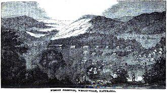Kaffraria - Mission Premises, Wesleyville, Kaffraria (July 1852)