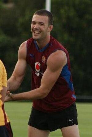 Mitch Clark - Clark at Brisbane Lions training in December 2008.