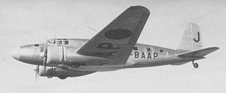 Mitsubishi Ki-57 - MC-20-I, with a nickname Asagumo (morning cloud), used by Asahi Shimbun