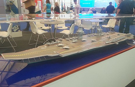 Model aircraft carrier project 23000E at the «Army 2015» 3.JPG