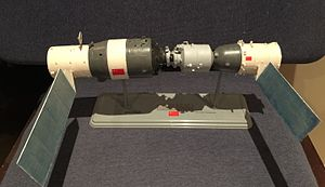 Tiangong-1 - Model of the Tiangong Space Lab and Shenzhou manned spacecraft.