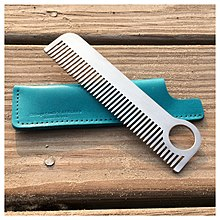 Modern metal comb from Chicago Comb