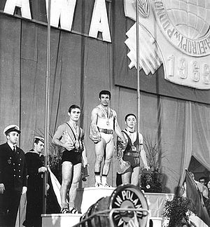 1969 World Weightlifting Championships - Podium of the 56 kg event