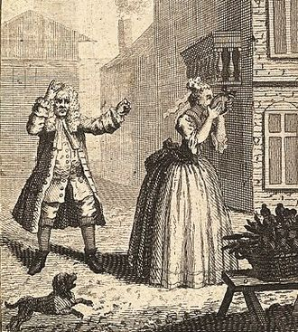The Imaginary Cuckold - Hogarth's depiction of Scene 6 in which Sganarelle discovers his wife admiring Lélie's portrait