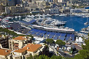 2016 Monaco Grand Prix - The swimming pool and Rascasse section of the track shortly before the race weekend