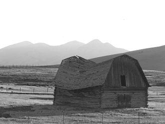 Monida Pass - A disused barn on Monida Pass