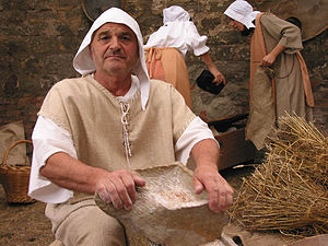 Miller - A man dressed as a medieval miller at a festival in Monselice, in Italy.