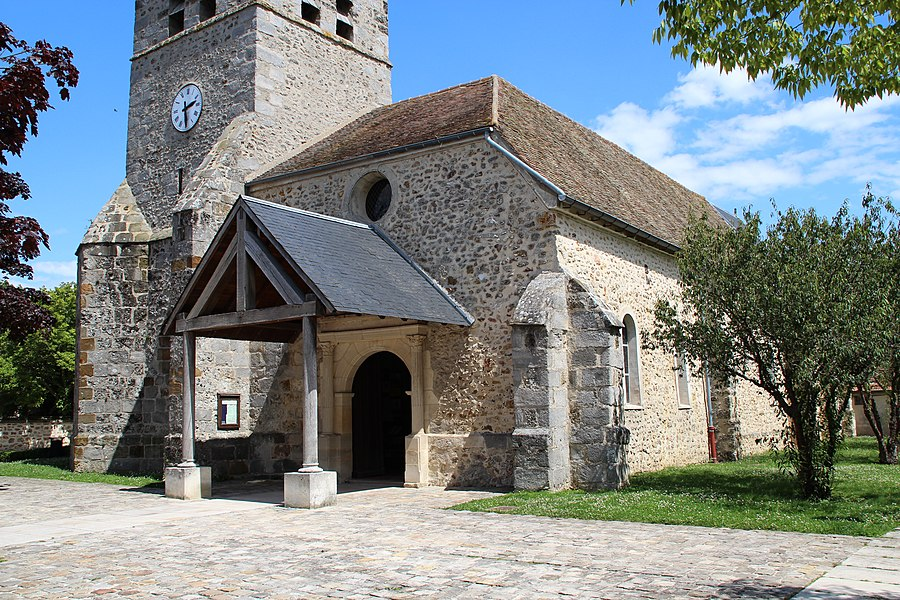 Saint-Martin church in Montigny-le-Bretonneux, France.