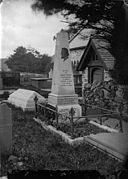 Monument to John Jones (Talhaiarn, 1810-1869), Llanfair Talhaearn NLW3363867.jpg