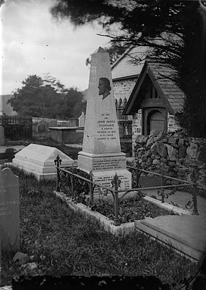 Talhaiarn - Monument to John Jones, Llanfair Talhaearn, c.1875