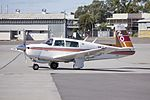 Mooney M20J (VH-VMB) taxiing at Wagga Wagga Airport.jpg