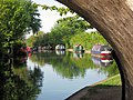 Moored Narrowboats from under Bridge No 130, Grand Union Canal - geograph.org.uk - 1462977.jpg