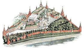 Moscow Kremlin map - Uglovaya Arsenalnaya Tower.png