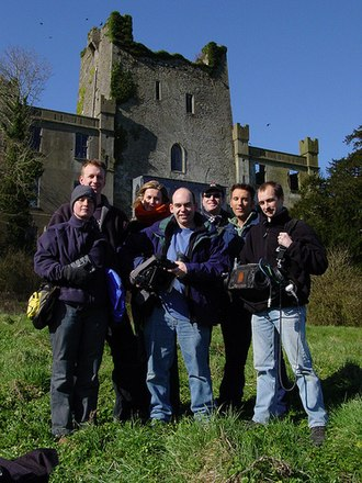 Most Haunted - The film crew for the first series, including guest Jason Karl (back, right)