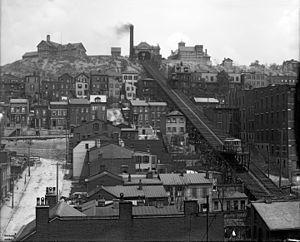 Mount Adams, Cincinnati - Mount Adams incline, circa 1905