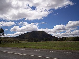 Mount Buninyong - Mount Buninyong viewed from south at the Midland Highway east of Scotsburn