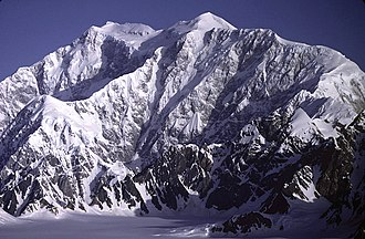 Mountain peaks of Canada - Mount Logan in the Saint Elias Mountains of Yukon is the highest summit of Canada.