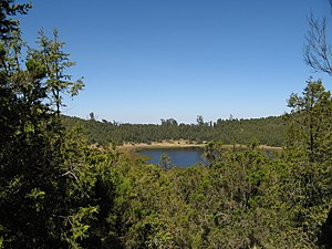 Mount Zuqualla - Crater lake on Mount Zuqualla.