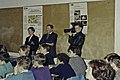 Mr CURIEN Ministre de la Recherche au collège Pierre Brossolette de Chatenay Malabry-50-cliche Jean Weber.jpg