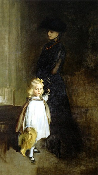 John P. Marquand - Mrs. Alexander Sedgwick and Daughter Christina, 1902, by Cecilia Beaux