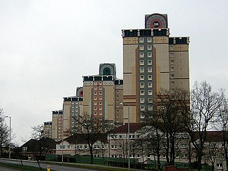 Muirhouse, Motherwell - Image: Muirhouse Tower Blocks 2