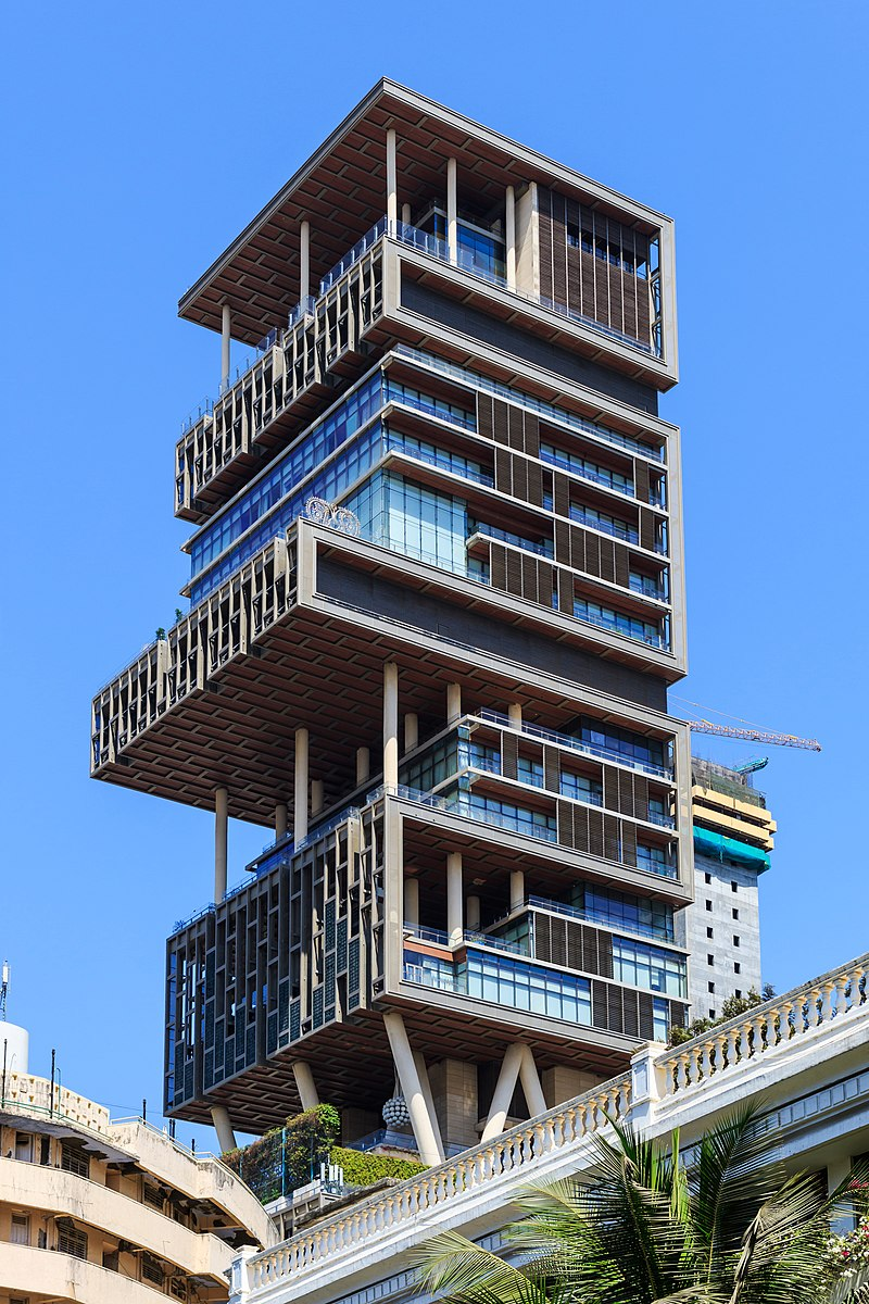 Mumbai 03-2016 19 Antilia Tower.jpg