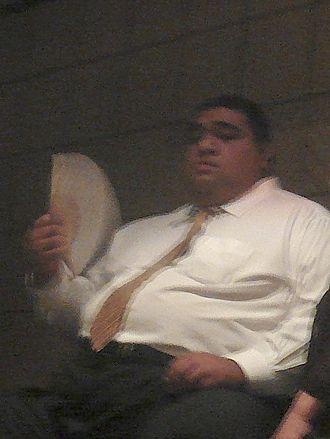 Musashimaru Kōyō - Musashimaru watching a sumo match in 2007