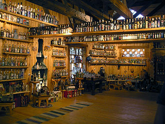 Vodka - A Vodka museum in Russia, located in Verkhniye Mandrogi, Leningrad Oblast.