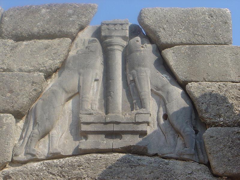the Mycenae lion gate