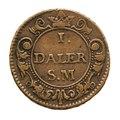 Nödmynt Mars, daler, 1718 - Skoklosters slott - 109268.tif