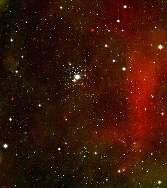 NGC 2362 - The stars of NGC 2362 surrounding τ CMa (Infrared image taken by the Spitzer Space Telescope)