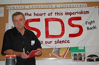 Carl Davidson - Carl Davidson at a new SDS convention, Chicago, 2006.