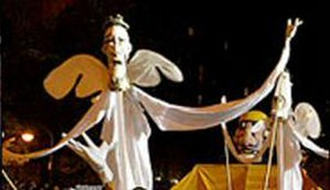 New York's Village Halloween Parade - Tall rod puppets, a signature of the parade.