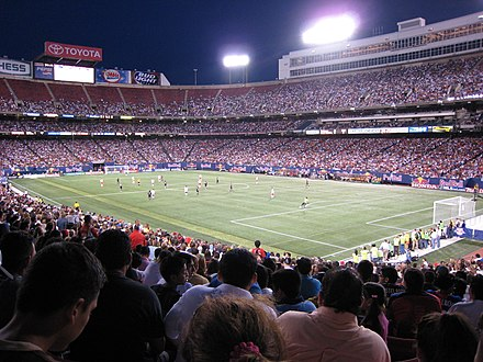 A New York Red Bulls match at Giants Stadium in 2007