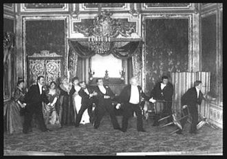 Un fil à la patte - A photo by Nadar from the first production