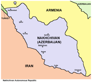 Enclave and exclave - Nakhchivan Autonomous Republic